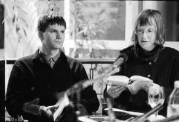 Durs Grünbein und Elke Erb 1996